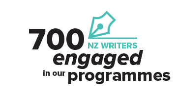 700 New Zealand Writers engaged in our programmes